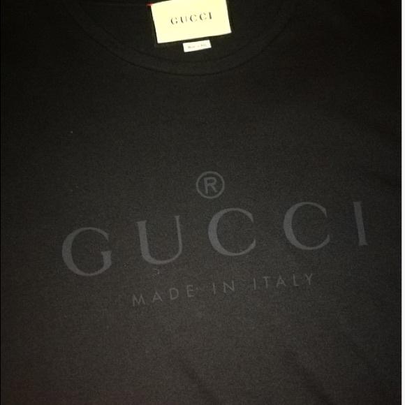 724cef27dcb3 Gucci Shirts | Logo Print T Shirt Black | Poshmark